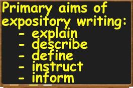 Define the term expository essay