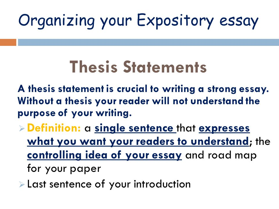 Expository Essay Writing - Mrs. Guillory'S English Class