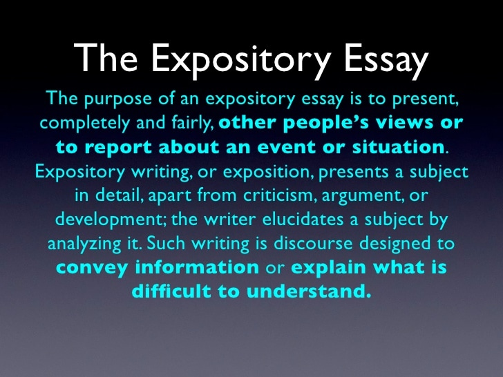 what makes an essay expository What is a college essay reading a piece aloud makes you look at expository word and really notice problems examples of expository essays 4th grade.
